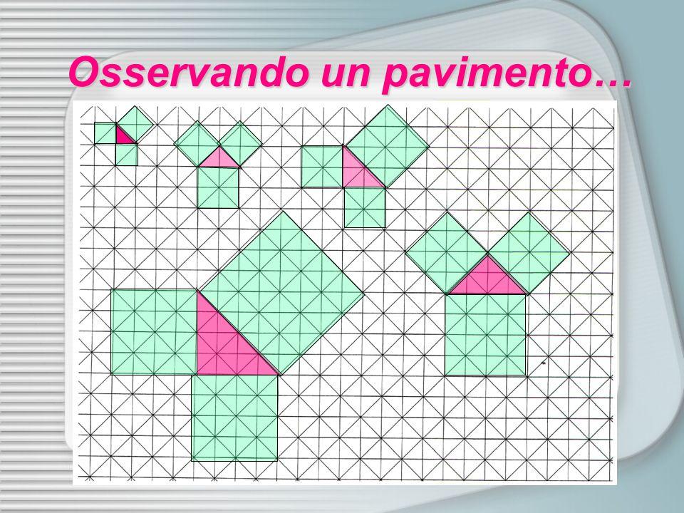 TEOREMA DI PITAGORA: In un triangolo rettangolo la somma delle aree dei quadrati costruiti sui cateti è uguale allarea del quadrato costruito sullipotenusa.