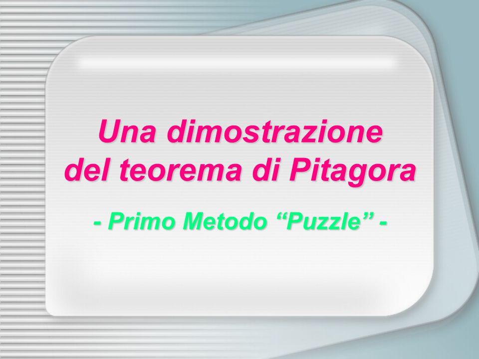 Una dimostrazione del teorema di Pitagora - Primo Metodo Puzzle -