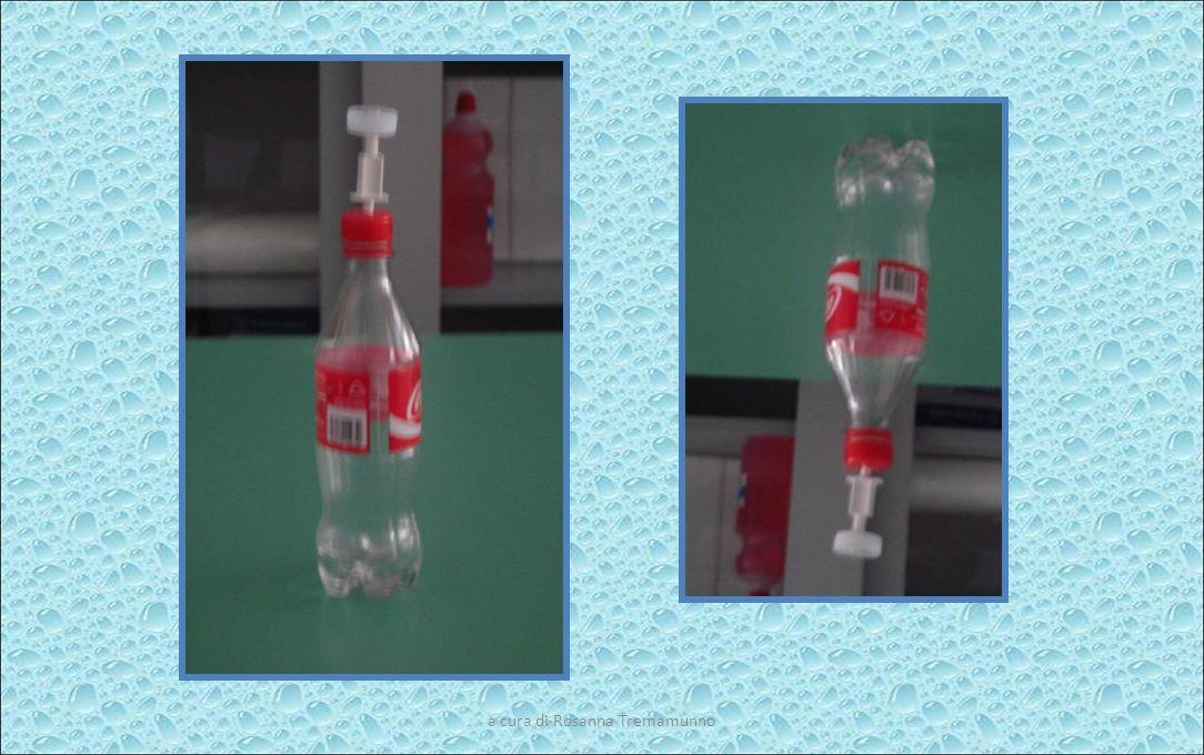 a cura di Rosanna Tremamunno Costruiamo il viscosimetro Materiale occorrente: Bottiglietta di plastica con tappo forato Cannuccia Liquidi diversi Procedimento: Praticare piccoli forellini sul fondo della bottiglia ( Praticare un foro nel tappo della bottiglia e inserire la cannuccia regolandola nellaltezza Graduare la bottiglietta Versare il liquido nella bottiglietta, chiudere e capolvegere Contare, nello stesso intervallo di tempo, le gocce che cadono Registrare Ripetere loperazione con altri liquidi Confrontare la quantità di gocce cadute nello stesso intervallo di tempo