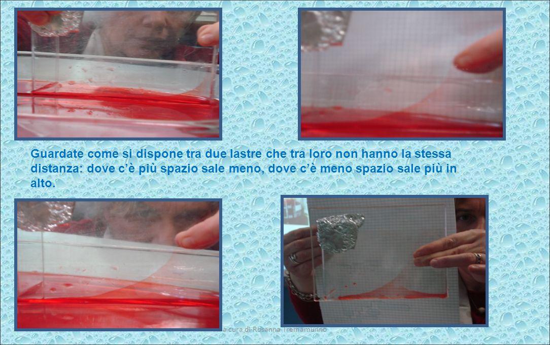 a cura di Rosanna Tremamunno E ……. nel tubicino più sottile il liquido sale molto più in alto!!!