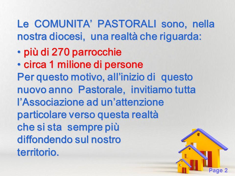 Page 13 CURA DELLAC NELLA COMUNITA PASTORALE L Azione Cattolica nella nuova organizzazione della Chiesa locale (cfr.