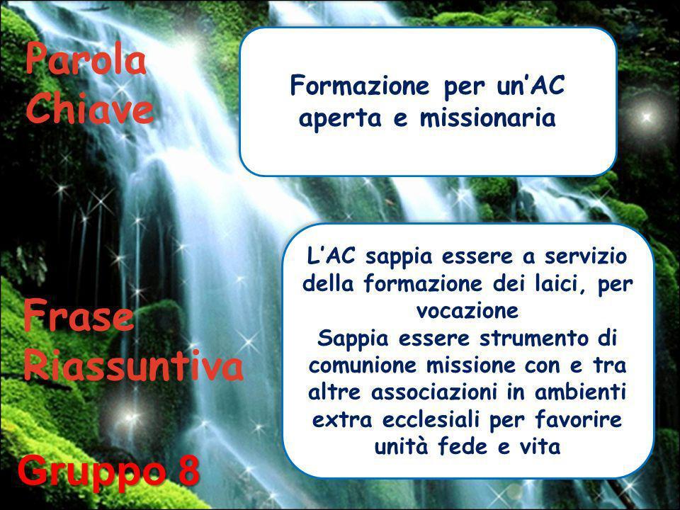 LAC sappia essere a servizio della formazione dei laici, per vocazione Sappia essere strumento di comunione missione con e tra altre associazioni in a