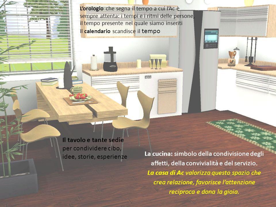 La cucina: simbolo della condivisione degli affetti, della convivialità e del servizio.