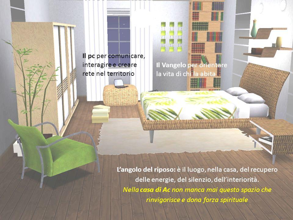 Langolo del riposo: è il luogo, nella casa, del recupero delle energie, del silenzio, dellinteriorità.