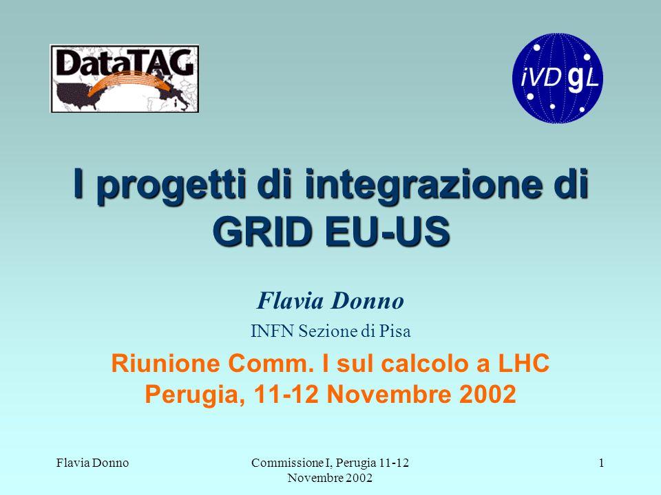 Flavia DonnoCommissione I, Perugia 11-12 Novembre 2002 1 I progetti di integrazione di GRID EU-US Flavia Donno INFN Sezione di Pisa Riunione Comm.