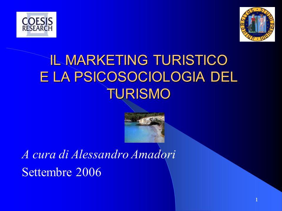 2 AGENDA DEI CONTENUTI Modulo 1: il turismo come mercato (M1) Modulo 2: che cosè il marketing (M2) Modulo 3: il marketing territoriale (M3) Modulo 4: il marketing turistico (M4) Modulo 5: la psicologia del turismo (M5) Bibliografia