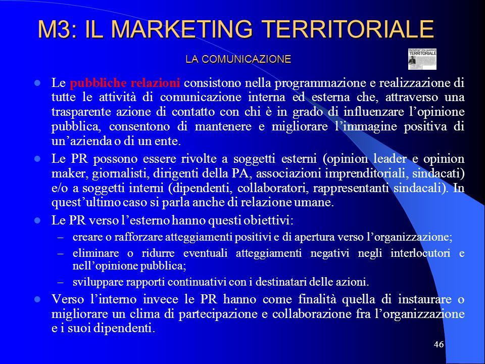 47 LA COMUNICAZIONE Il direct marketing è una moderna forma di contatto appunto diretto e personalizzato con i clienti attuali e potenziali, visti non più come generici elementi di un segmento di mercato (target), ma come elementi individualizzati ai quali si rivolgono le azioni di marketing.