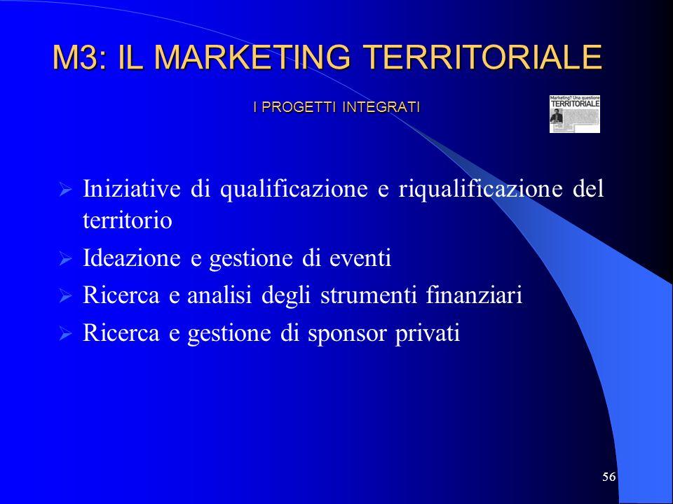 57 IL MARKETING MIX Abbiamo fin qui evidenziato, in una logica di integrazione, le attività di marketing che devono essere realizzate dagli enti pubblici locali e territoriali.