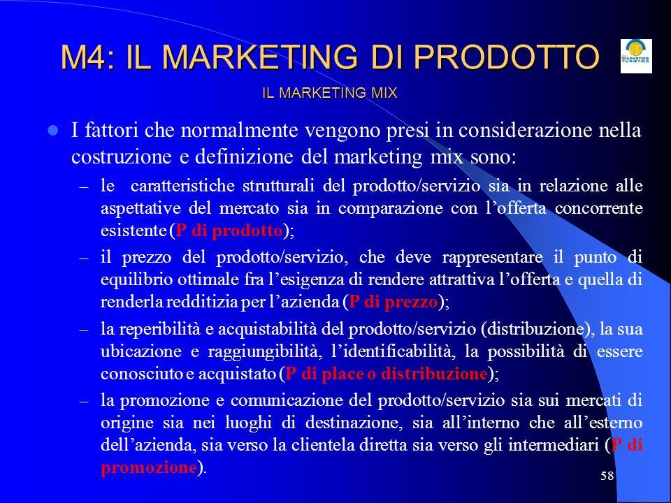 59 IL MARKETING MIX In definitiva, il termine marketing mix indica la combinazione (mix) di variabili controllabili (leve decisionali) di marketing che le imprese possono impiegare per raggiungere i propri obiettivi commerciali.