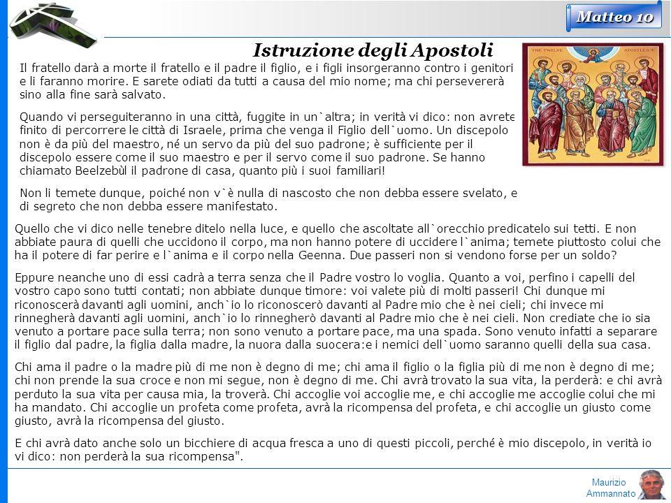 Maurizio Ammannato Matteo 10 Il fratello dar à a morte il fratello e il padre il figlio, e i figli insorgeranno contro i genitori e li faranno morire.