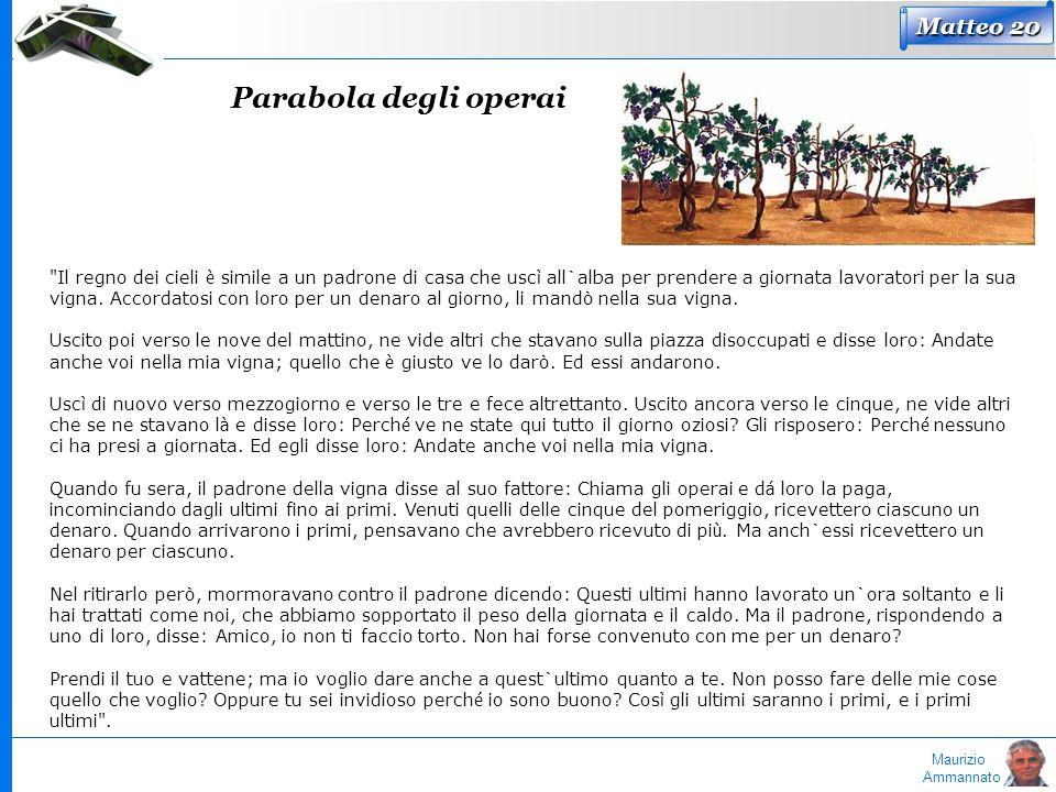 Maurizio Ammannato Parabola degli operai Matteo 20