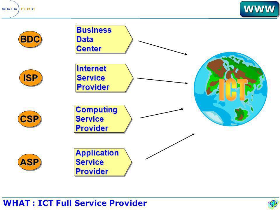 WWWWWW Nuovo Ambiente Competitivo Esternalizzazione Fisica Azienda Nuova ICT Come strumento Strategico Centralizzazione Logica Decisioni WHAT: Il Posizionamento Fornire soluzioni di Information e Communication Technology di elevata qualità alle aziende creando valore per loro e per i loro clienti.