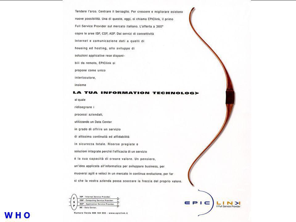 WWWWWW EPIClink è una Joint- Venture fra Pirelli, Edisontel, IntesaBci, Bain & Company Italy e Gruppo Camozzi costituita nel Febbraio 2001 per offrire