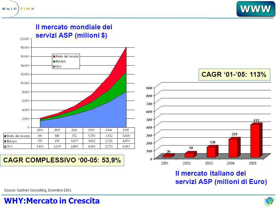 WWWWWW Il mercato italiano ha visto, nel 2001, la nascita di una vera e propria offerta di servizi ASP, sia da parte di operatori specializzati che da