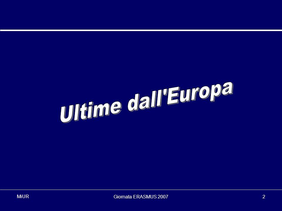 Giornata ERASMUS 20072 MiUR