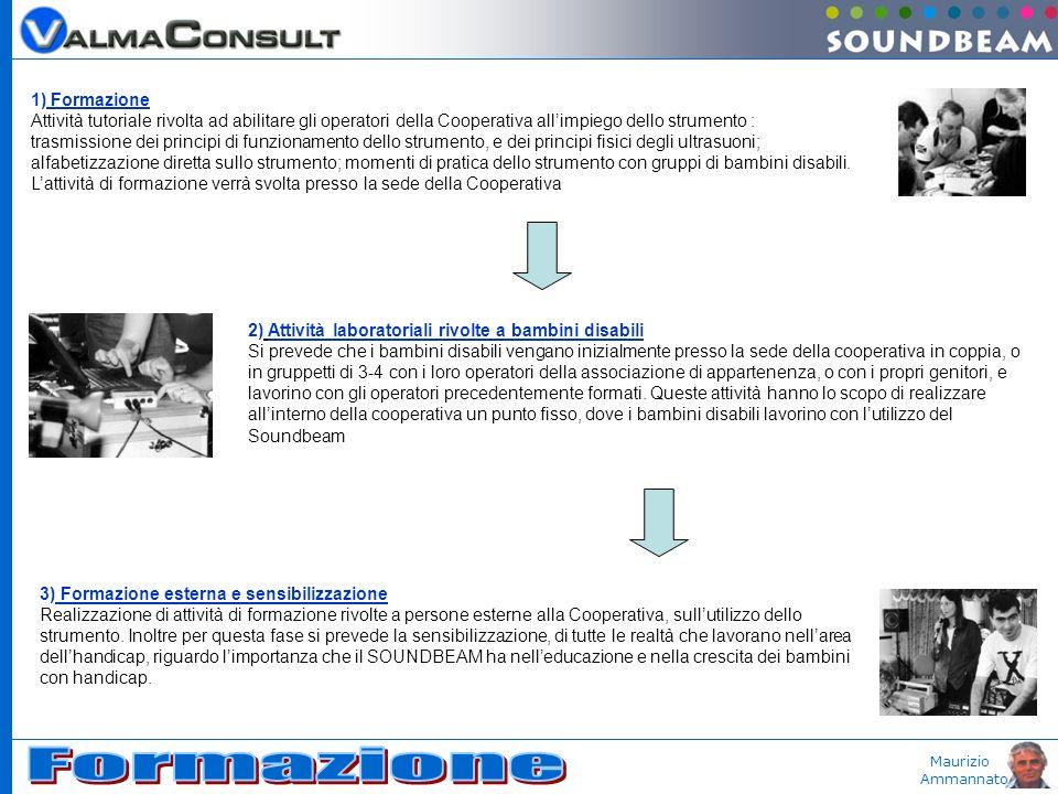 Maurizio Ammannato 1) Formazione Attività tutoriale rivolta ad abilitare gli operatori della Cooperativa allimpiego dello strumento : trasmissione dei