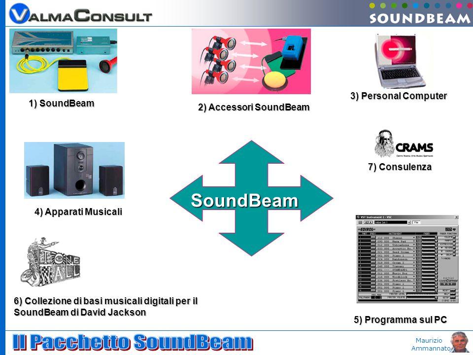Maurizio Ammannato SoundBeam 1) SoundBeam 2) Accessori SoundBeam 5) Programma sul PC 6) Collezione di basi musicali digitali per il SoundBeam di David Jackson 3) Personal Computer 4) Apparati Musicali 7) Consulenza