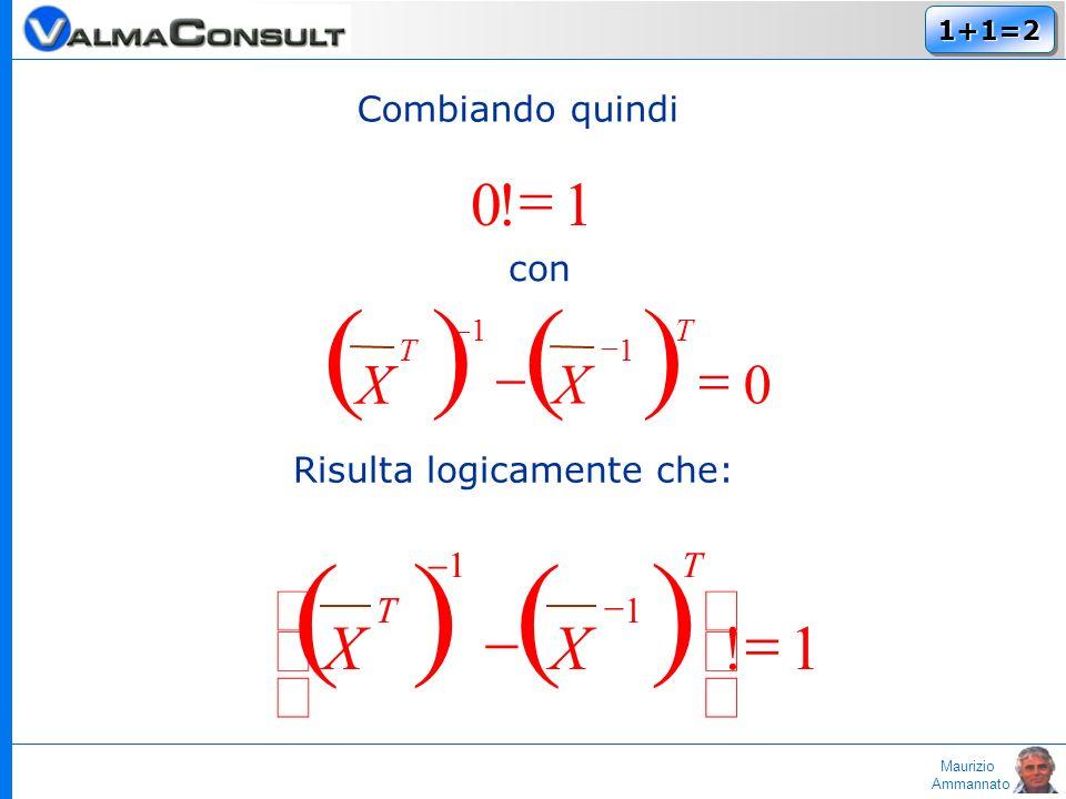 Maurizio Ammannato 1+1=21+1=2 Combiando quindi 1!0 con Risulta logicamente che: 1.