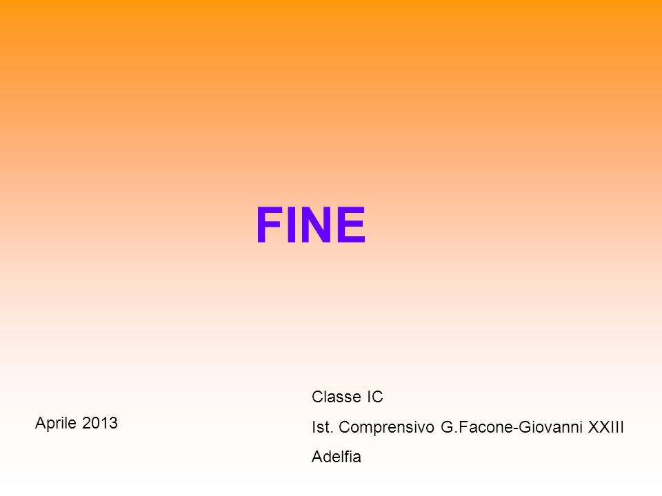 FINE Classe IC Ist. Comprensivo G.Facone-Giovanni XXIII Adelfia Aprile 2013