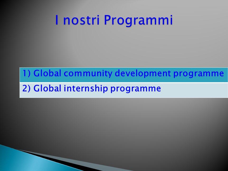 1) Global community development programme 2) Global internship programme