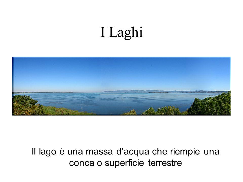 I Laghi Il lago è una massa dacqua che riempie una conca o superficie terrestre