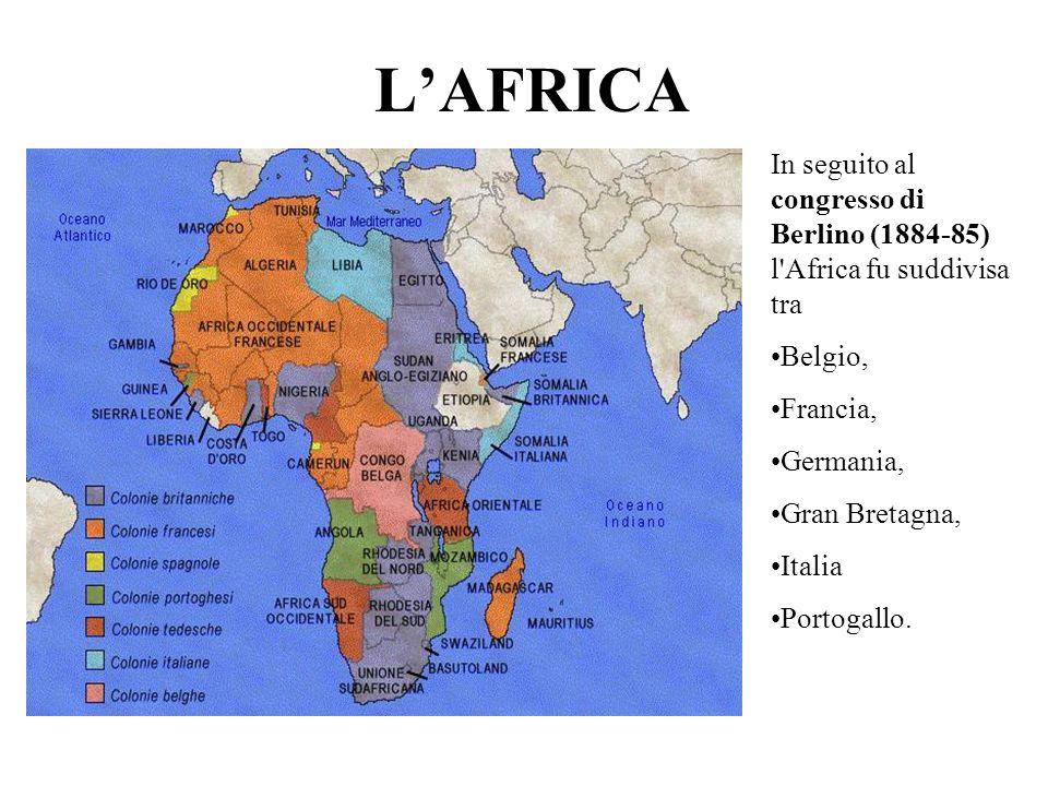 LASIA Nel XIX secolo gli olandesi controllavano Giava, Sumatra, le Molucche e il Borneo meridionale; gli inglesi controllavano l India, l Australia, le Maldive, le Seychelles, la Tasmania e Ceylon; i francesi controllavano il sudest asiatico, fuso in un unica colonia denominata Indocina francese.
