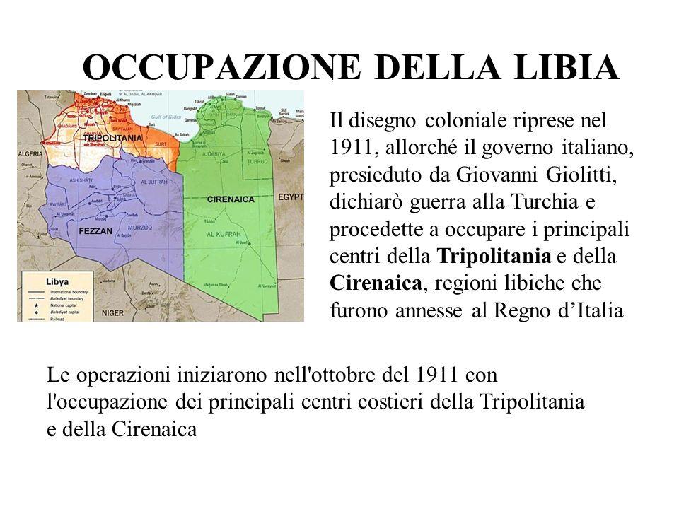 LA GUERRA ITALO-TURCA La Turchia, nell impossibilità di rispondere efficacemente sul piano militare e isolata sul piano diplomatico, accettò di aprire trattative di pace che si svolsero a Losanna il 18 ottobre 1912.