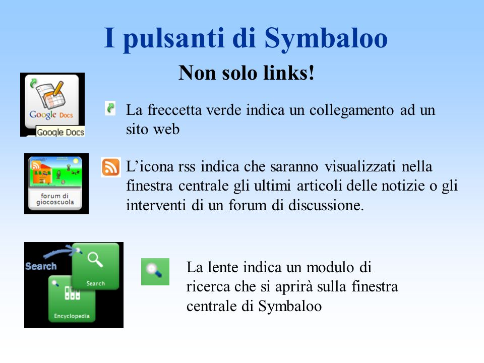 I pulsanti di Symbaloo Non solo links.