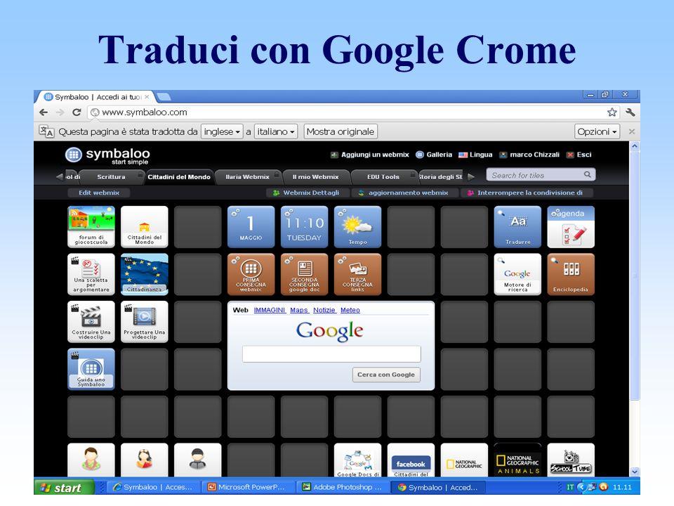Traduci con Google Crome