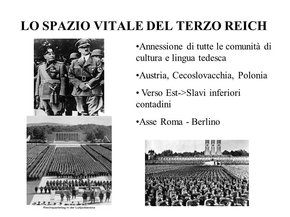 LE ANNESSIONI DELLA GERMANIA 1937 -Patto contro il comunismo internazionale -> Giappone 1937- il Giappone invade la Cina 1938 - la Germania occupa lAustria e i Sudeti 1939 - Conferenza di Monaco 1939 - LItalia invade lAlbania 1939 - la Germania occupa la Cecoslovacchia 1939 - Patto di non agressione Hitler-Stalin