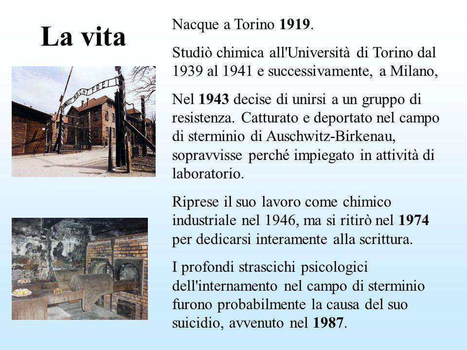 La vita Nacque a Torino 1919. Studiò chimica all'Università di Torino dal 1939 al 1941 e successivamente, a Milano, Nel 1943 decise di unirsi a un gru
