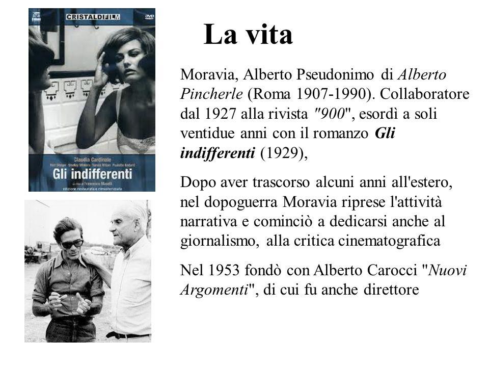 La vita Moravia, Alberto Pseudonimo di Alberto Pincherle (Roma 1907-1990). Collaboratore dal 1927 alla rivista