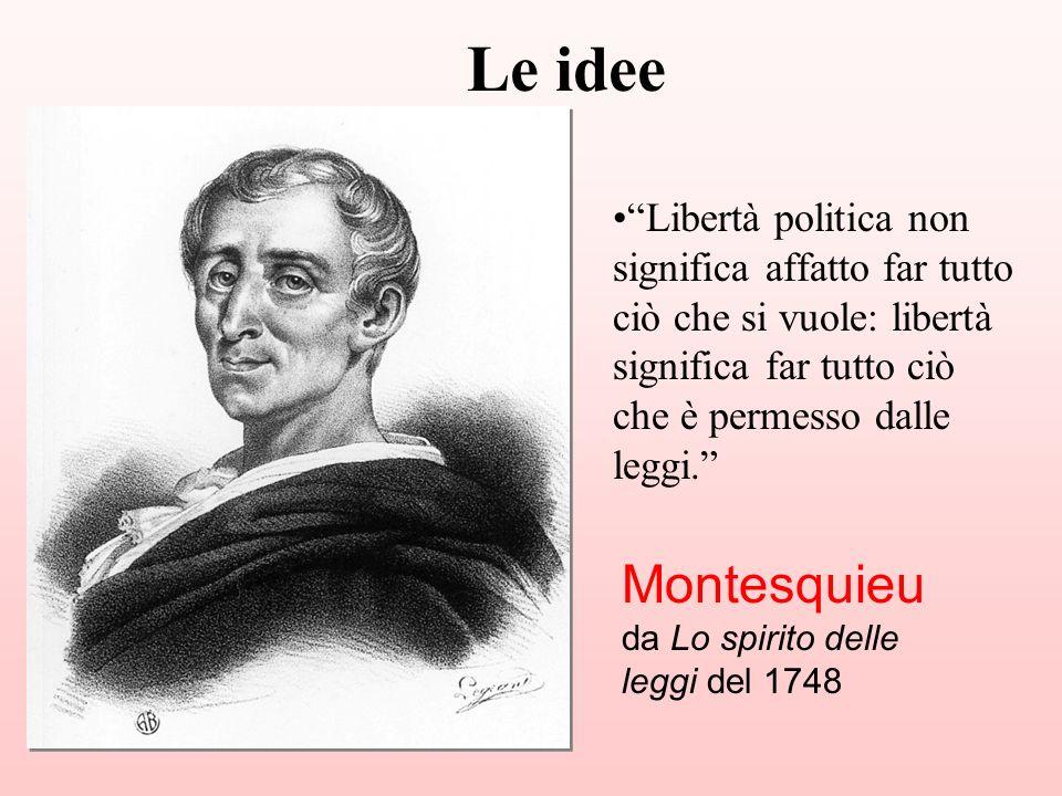 Libertà politica non significa affatto far tutto ciò che si vuole: libertà significa far tutto ciò che è permesso dalle leggi. Montesquieu da Lo spiri