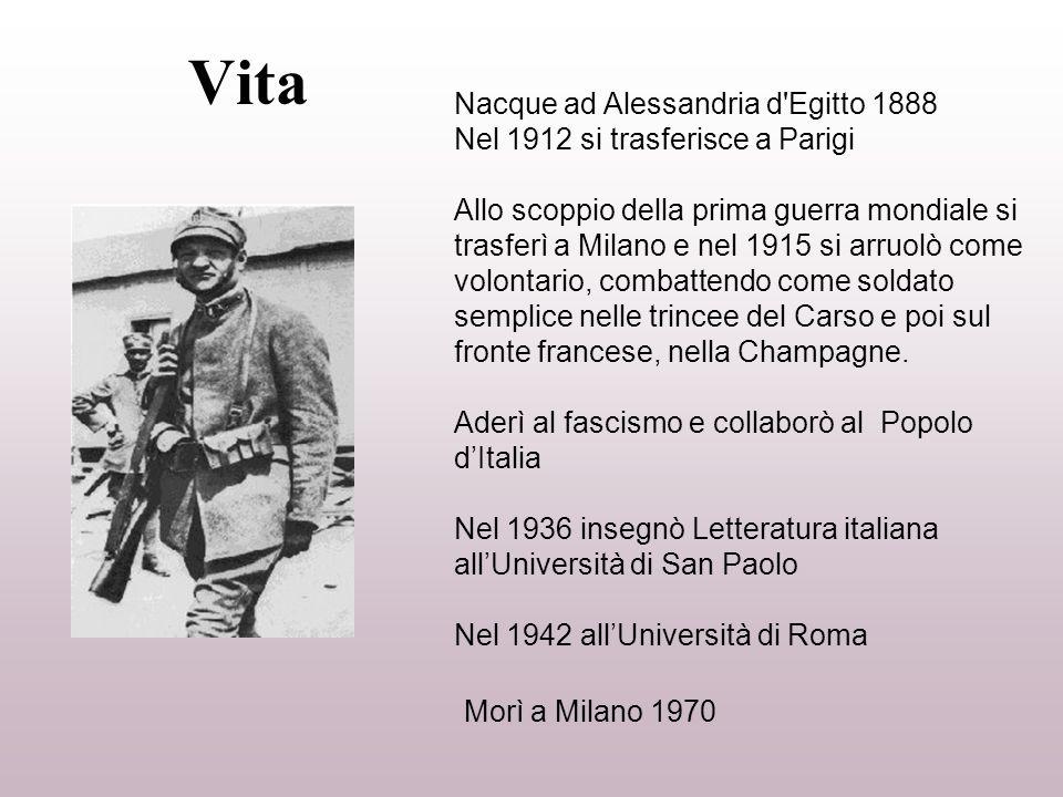 Vita Nacque ad Alessandria d'Egitto 1888 Nel 1912 si trasferisce a Parigi Allo scoppio della prima guerra mondiale si trasferì a Milano e nel 1915 si