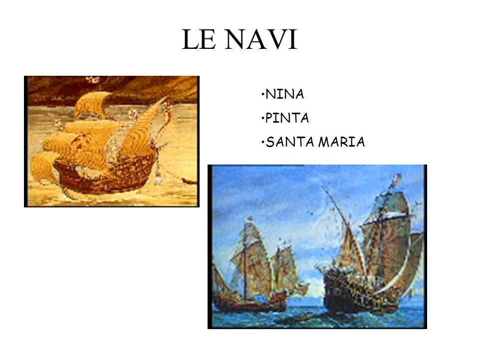 NINA PINTA SANTA MARIA LE NAVI