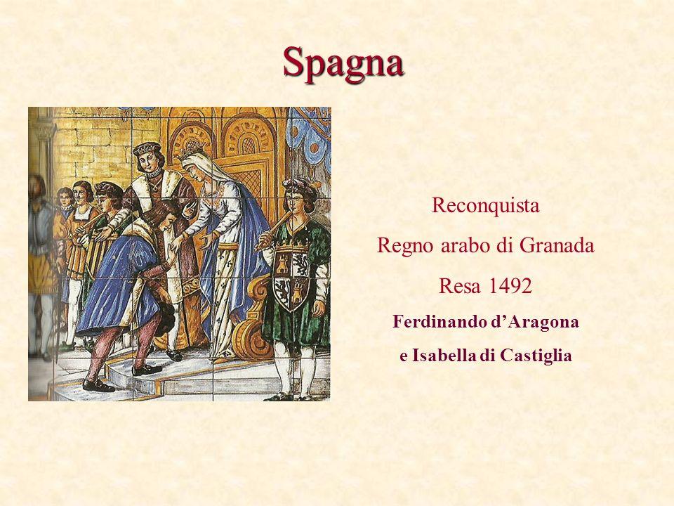 Spagna Reconquista Regno arabo di Granada Resa 1492 Ferdinando dAragona e Isabella di Castiglia