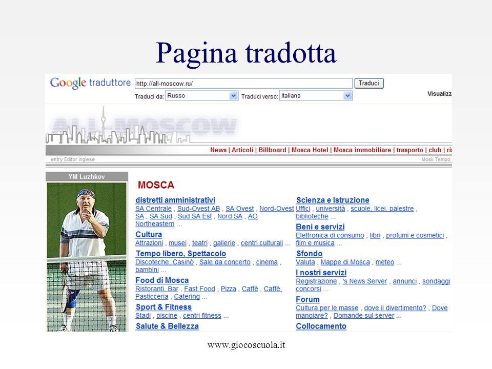 www.giocoscuola.it Pagina tradotta
