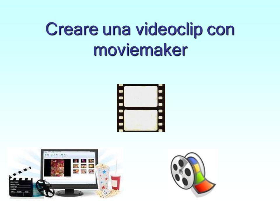Creare una videoclip con moviemaker