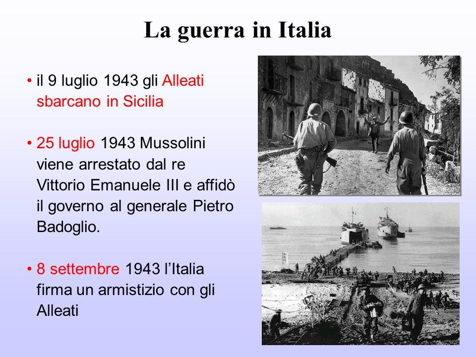 Cosa è successo in Italia dopo l8 settembre 1943 Le truppe tedesche occupano militarmente lItalia Lesercito italiano non ha ordini e direttive sicure.