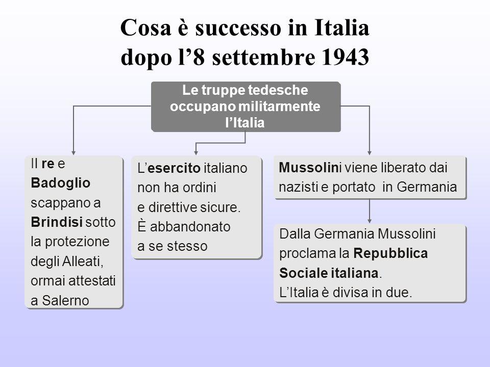 Le operazioni sul fronte italiano Nellottobre del 1943 gli Alleati occuparono Napoli, già liberata da una insurrezione popolare contro i Tedeschi.