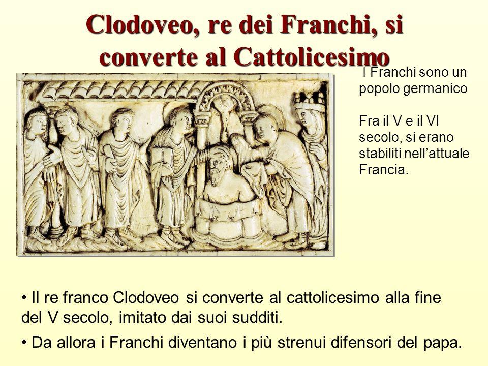 I Franchi sono un popolo germanico Fra il V e il VI secolo, si erano stabiliti nellattuale Francia.
