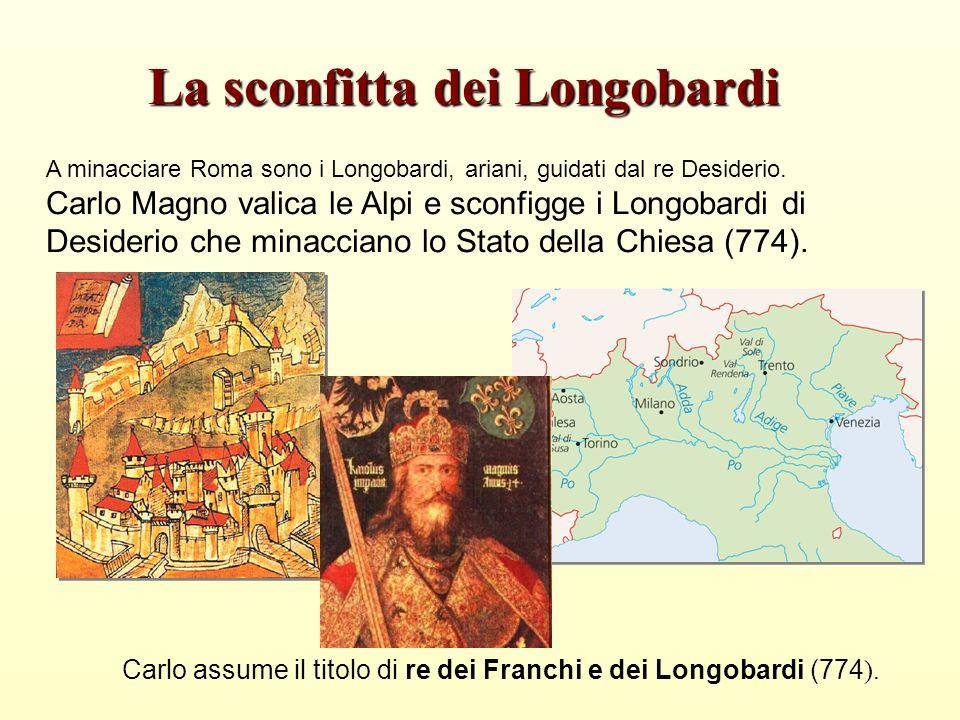 A minacciare Roma sono i Longobardi, ariani, guidati dal re Desiderio.