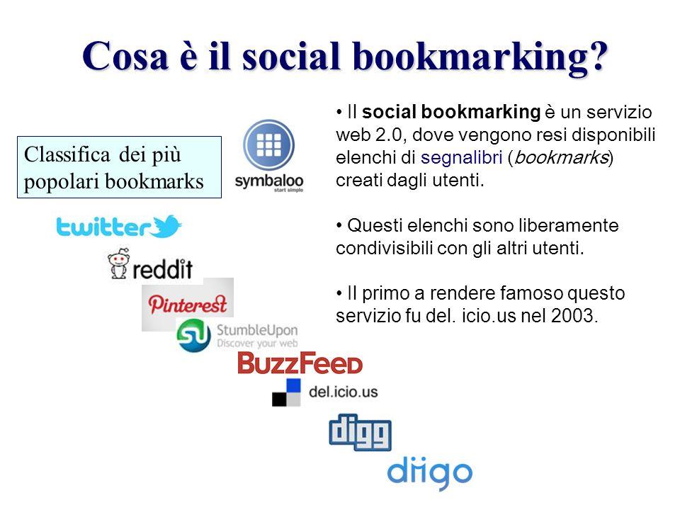 Cosa è il social bookmarking.