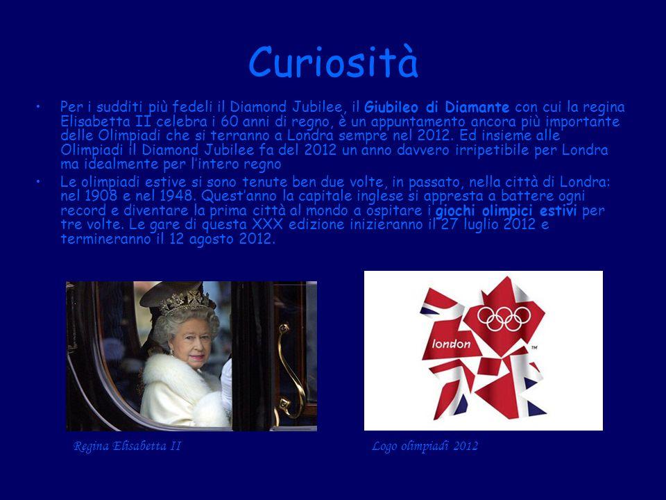 Curiosità Per i sudditi più fedeli il Diamond Jubilee, il Giubileo di Diamante con cui la regina Elisabetta II celebra i 60 anni di regno, è un appunt
