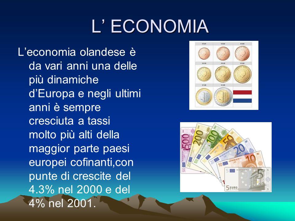 L ECONOMIA L ECONOMIA Leconomia olandese è da vari anni una delle più dinamiche dEuropa e negli ultimi anni è sempre cresciuta a tassi molto più alti