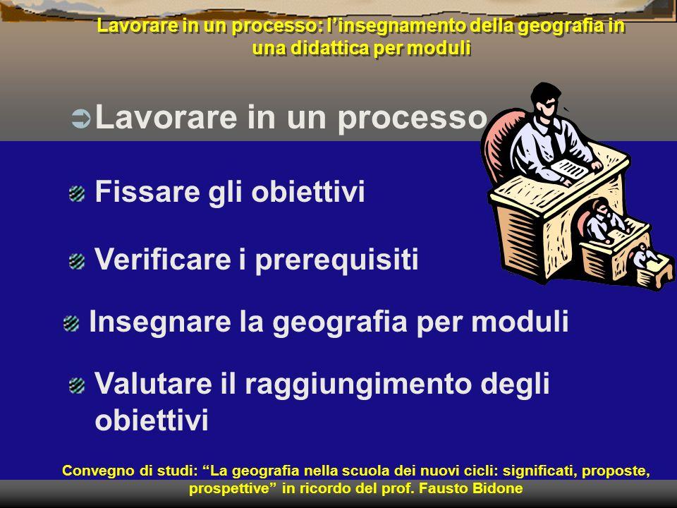 Lavorare in un processo: linsegnamento della geografia in una didattica per moduli Lavorare in un processo Convegno di studi: La geografia nella scuol
