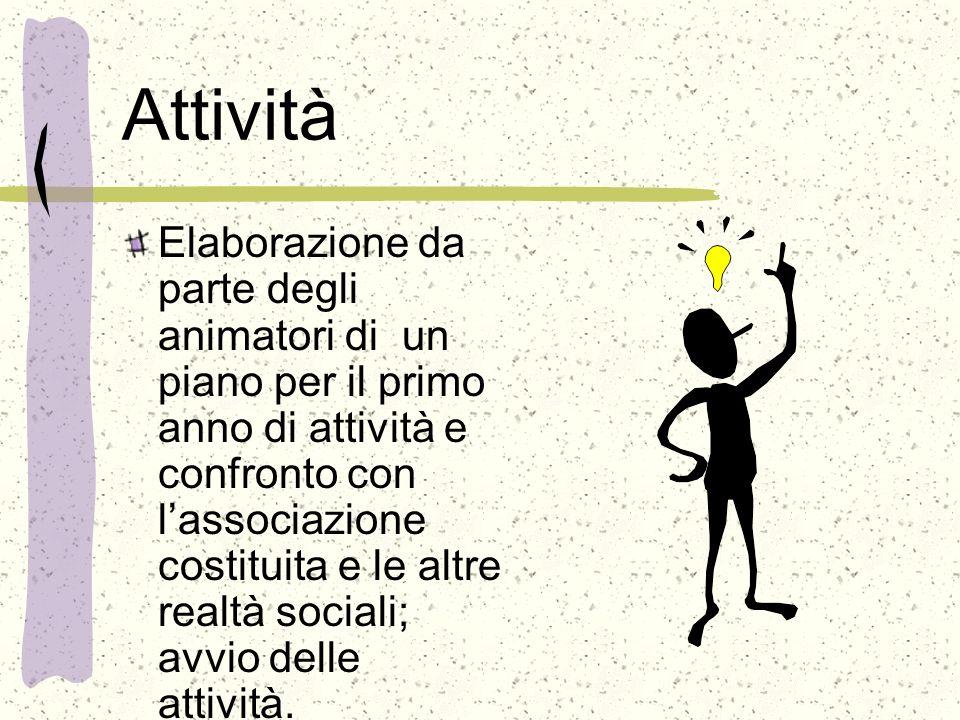 Azione formativa Lazione formativa, rivolta agli animatori, si svilupperà in: incontri in loco con un formatore attività mirate da svolgere sotto la supervisione del formatore viaggi di studio a Torino e provincia