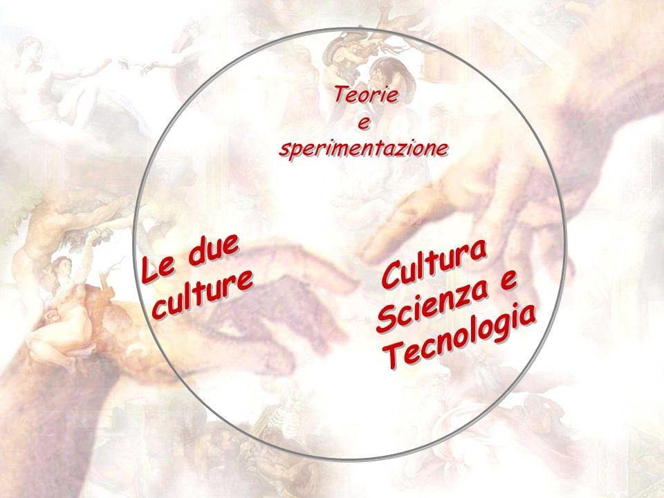 Teorie e sperimentazione Cultura Scienza e Tecnologia Le due culture