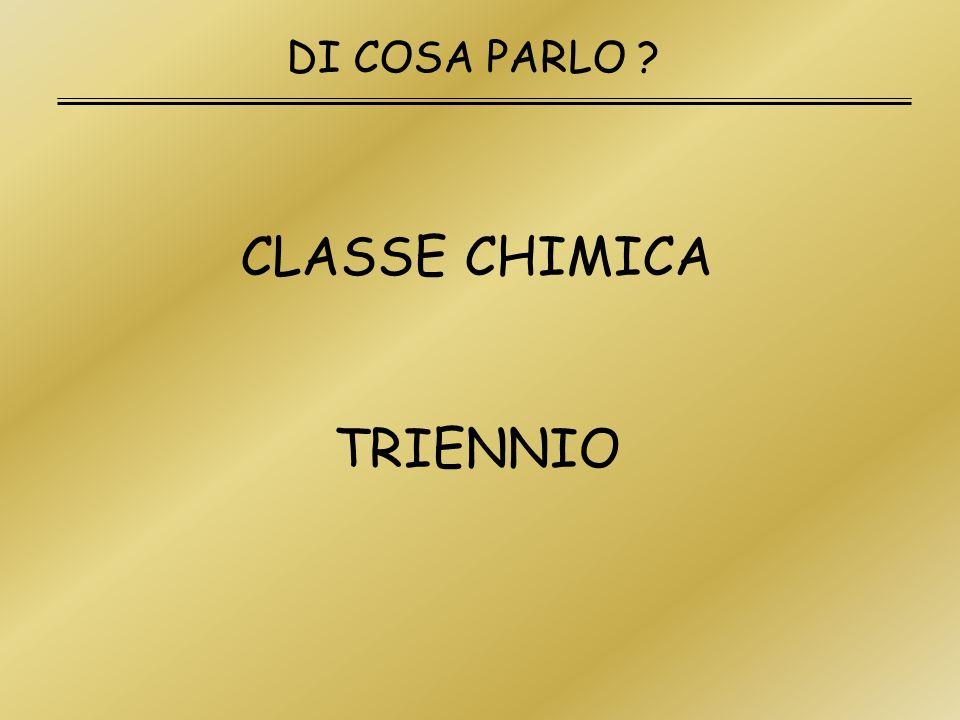 CLASSE CHIMICA TRIENNIO DI COSA PARLO ?