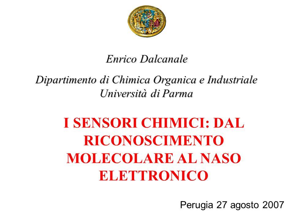 I SENSORI CHIMICI: DAL RICONOSCIMENTO MOLECOLARE AL NASO ELETTRONICO Enrico Dalcanale Dipartimento di Chimica Organica e Industriale Università di Par